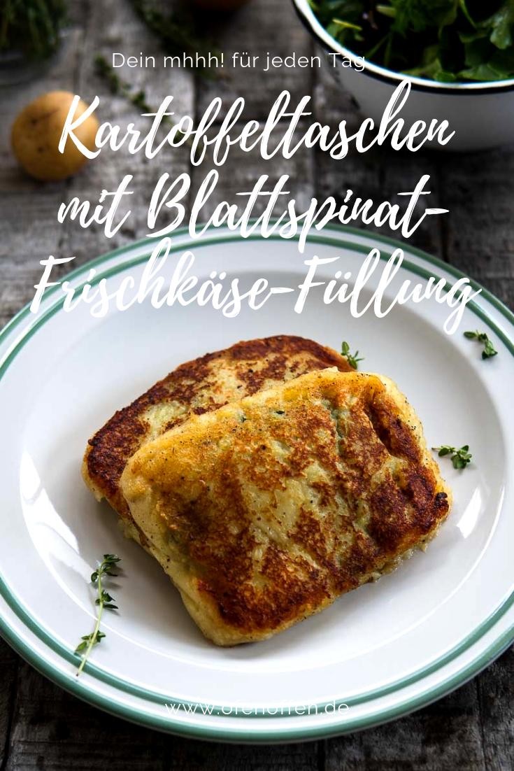 Photo of Kartoffeltaschen mit Blattspinat-Frischkäse-Füllung | Ofen offen