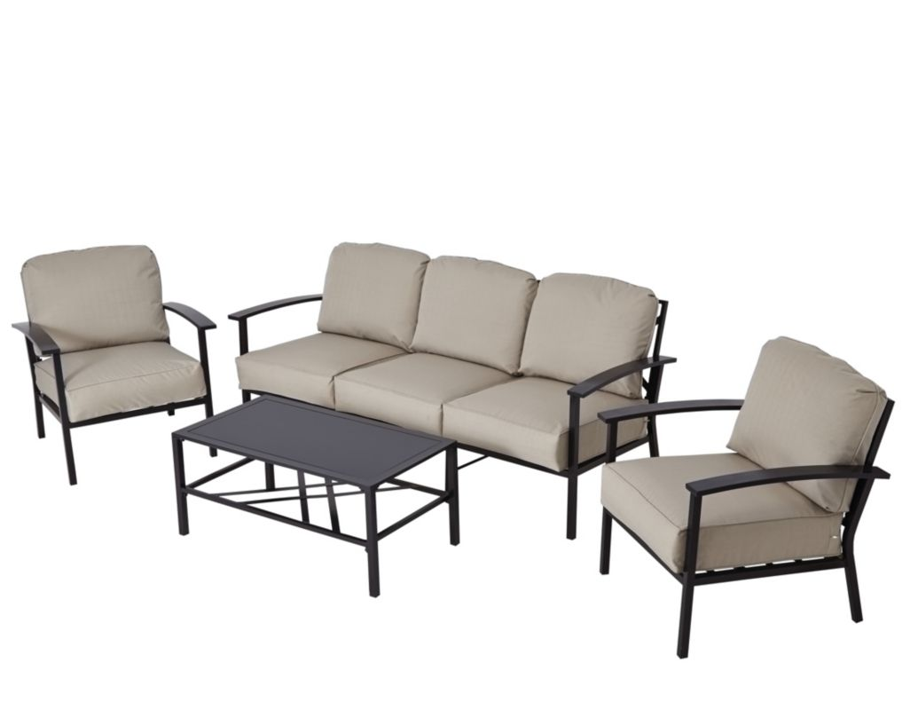 Wyndham 3 Seat Sofa Set Cream Garden Furniture Sofa
