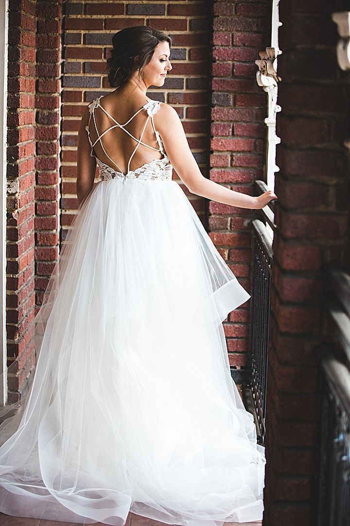 Hayley Paige Wedding Gown Romantic wedding at B&A Warehouse in ...