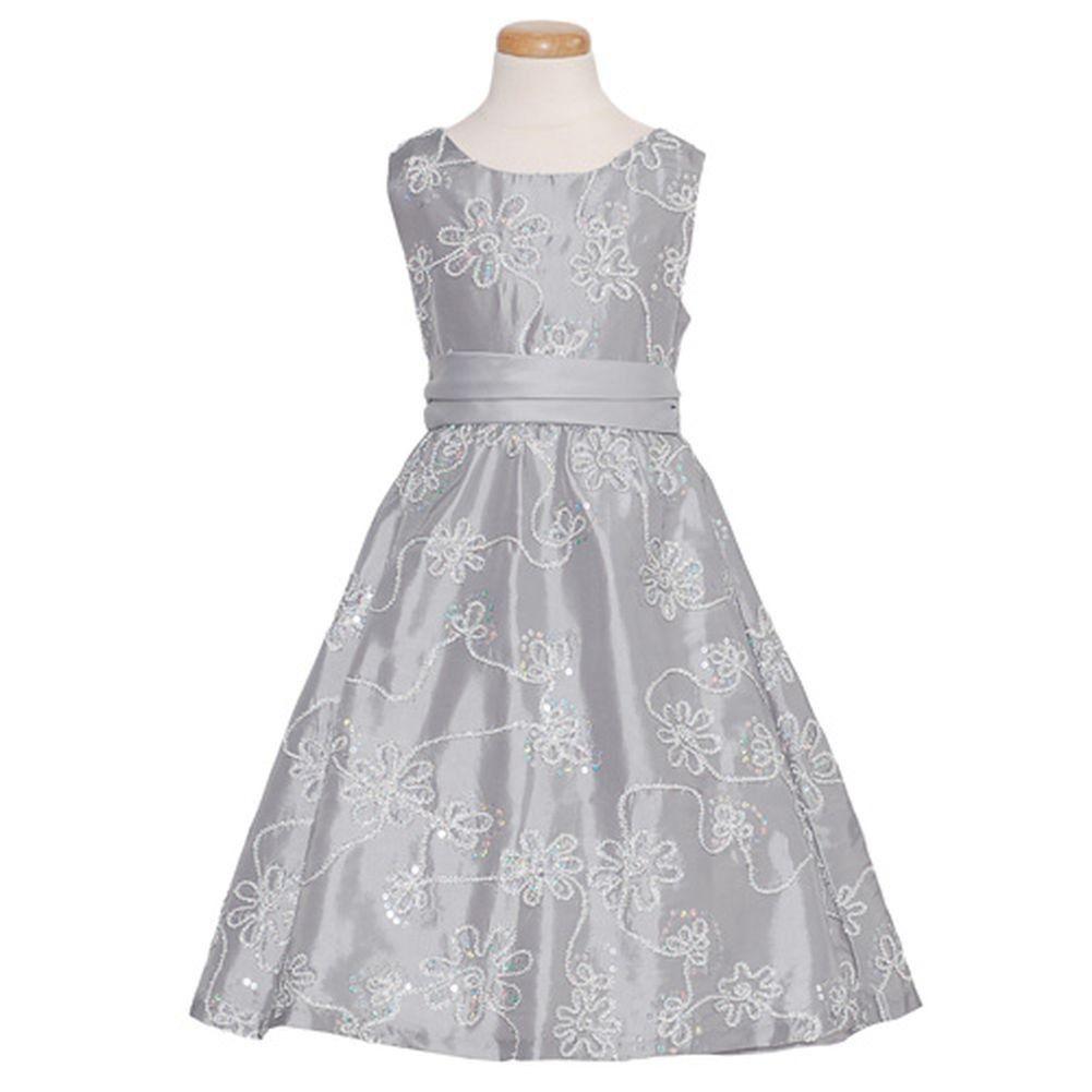 Holiday Sparkle White Dress Girl