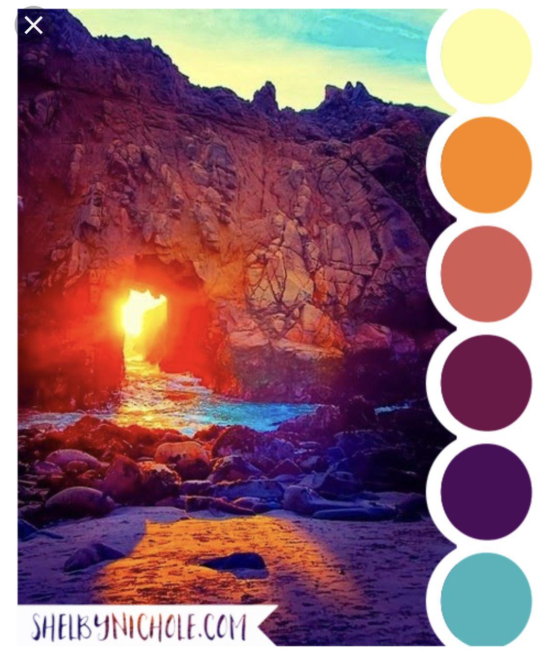Sunset Ocean Sunset Color Palette Sunset Wedding Colors Sunset