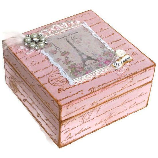 pink shabby chic things Keepsake Box Pink Shabby Chic Jewelry Box