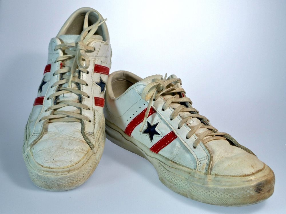 3b0770b1f99683 VTG 70 s CONVERSE All-Star ONE STAR Men s 9 Shoes LEATHER Low Top CHUCKS  Vintage  Converse  AthleticSneakers