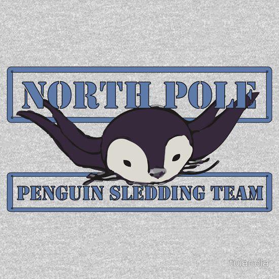 Penguin Sledding Team