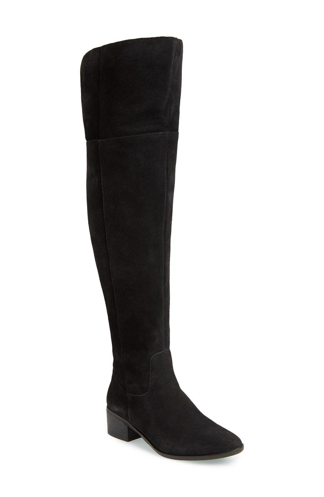 856daa2a9e1 To cuff or not to cuff these lavish suede over-the-knee Steve Madden boots