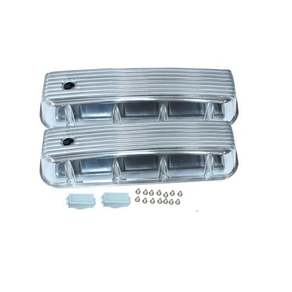 Pre 86 Bbc Big Block Chevy Tall Finned Polished Aluminum Valve Covers 396 502 Valve Cover Big Block Chevy