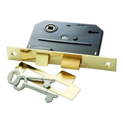 First Watch Security Polished Brass Bit Key Mortise Lock 1155 Mortise Lock Polished Brass Antique Hardware