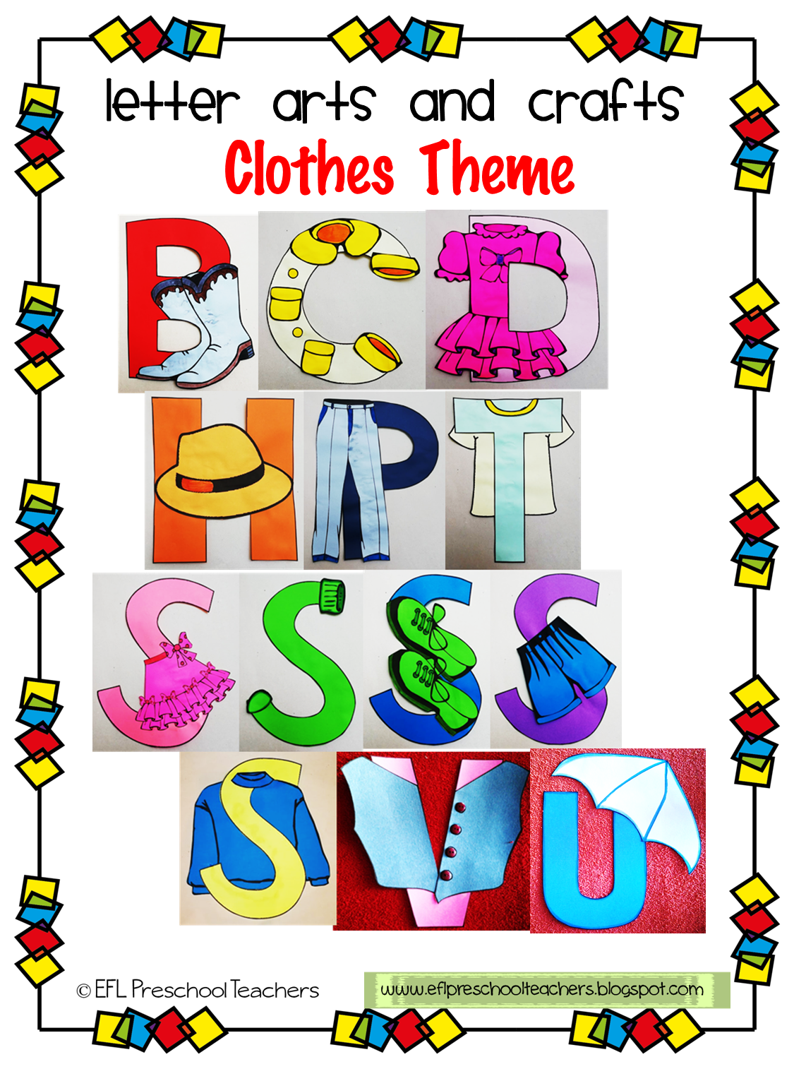Clothes Theme Letter Arts And Crafts