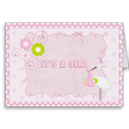 it's a girl card