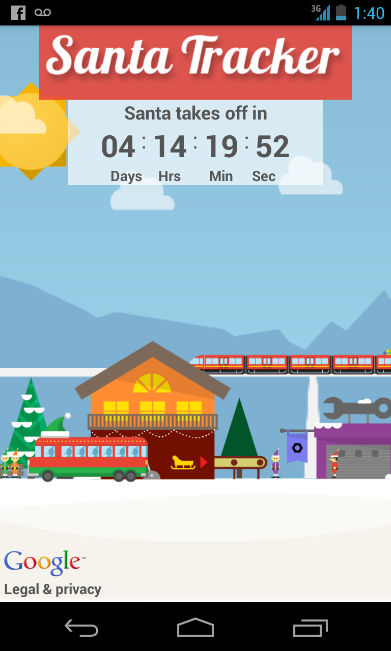 Track Santa on your Android phone! Great apps, Mobile