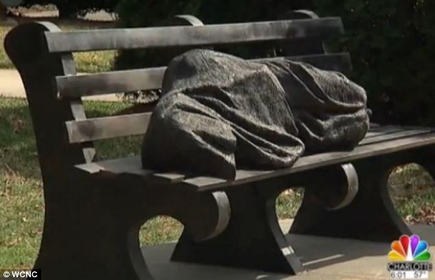 homeless jesus sculpture new York | divisive a bronze statue depicting jesus as a homeless man sleeping ...