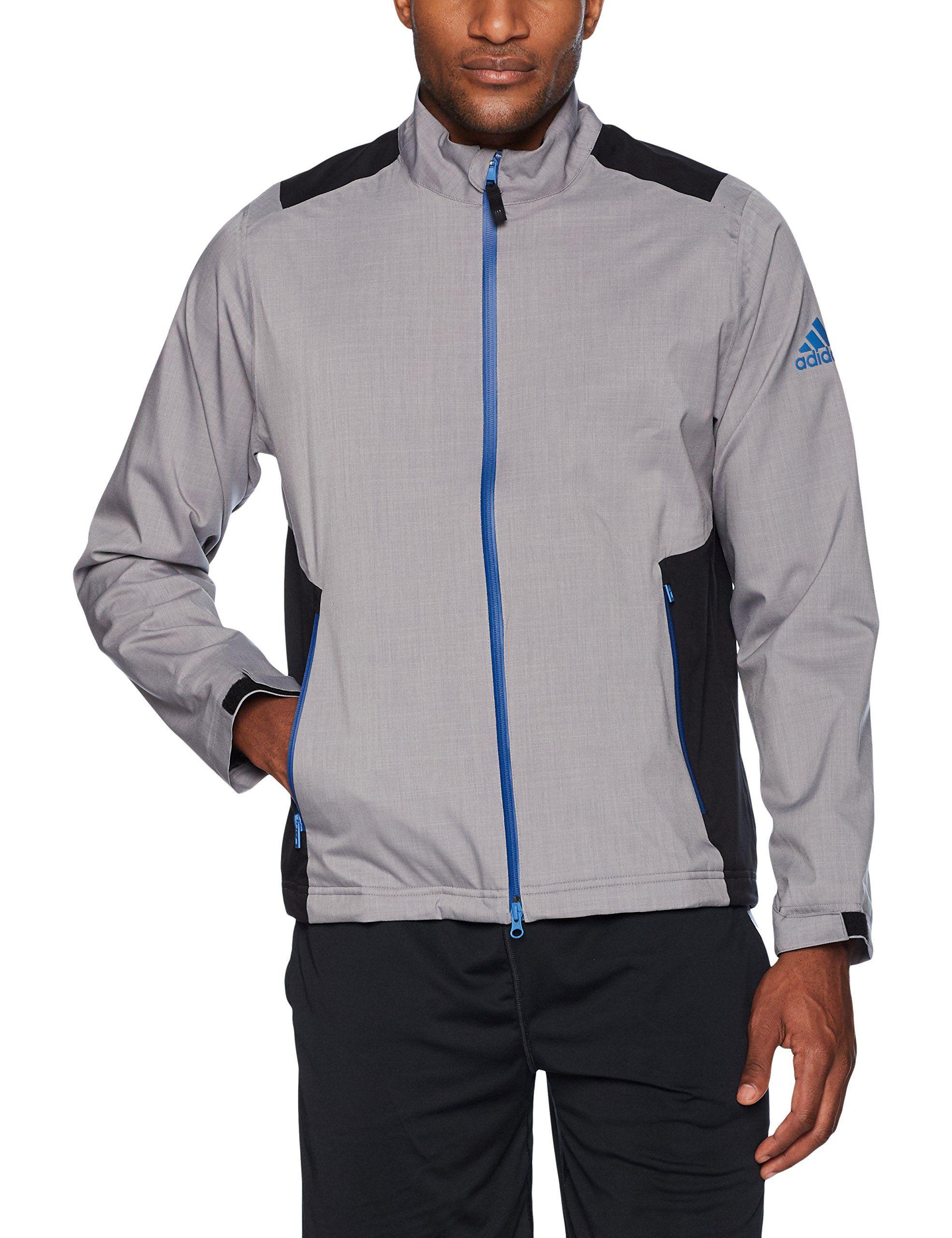 Men Golf Clothing Adidas Golf Mens Climaproof Heather Rain Jacket Grey Three F Grey Two F Black Night Grey Mens Golf Outfit Black Shorts Men Mens Rain Jacket [ 2560 x 1969 Pixel ]