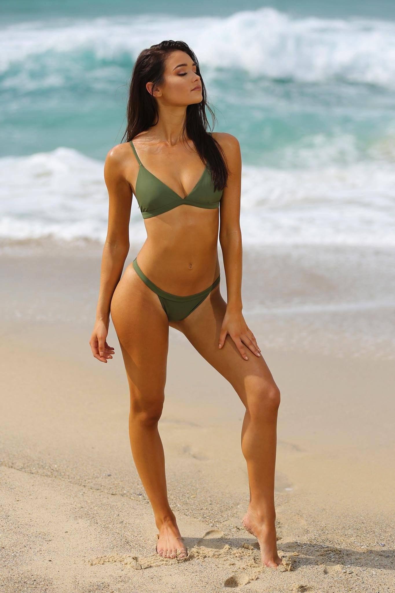 Bondi Bikini Set Khaki Bikinis Bikini Set Cute Bikinis