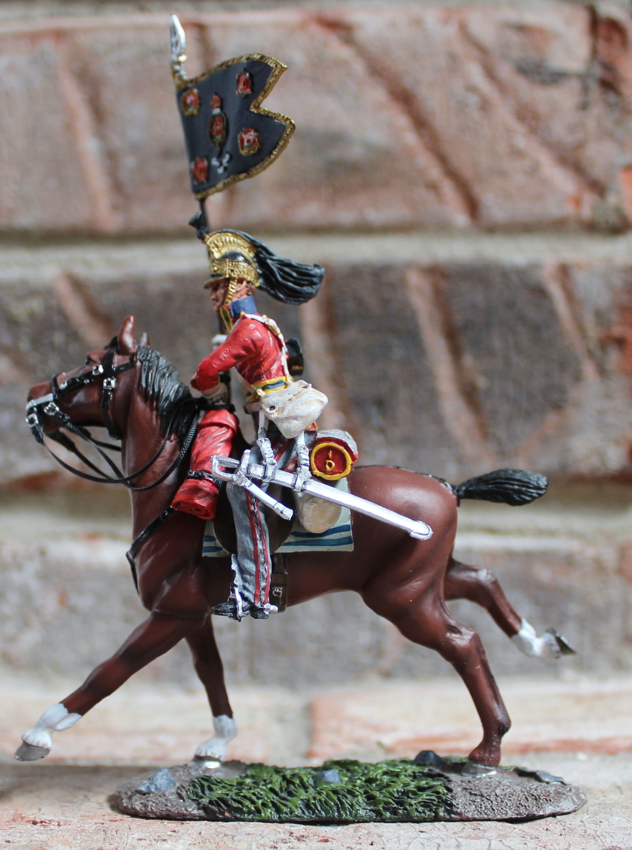 Br waterloo campaign british st royal dragoons guison bearer