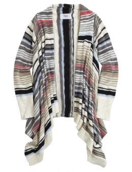 Shop Striped Waterfall Cardigan and other trendy girls sweaters ...