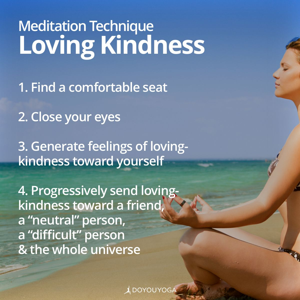 Meditate by sending out loving-kindness and receive it ten-fold in return