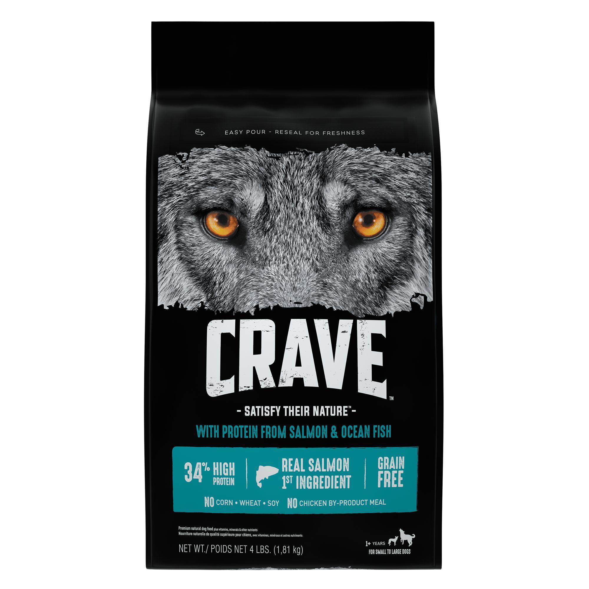 Crave Adult Dog Food Grain Free Salmon Ocean Fish Dry Dog