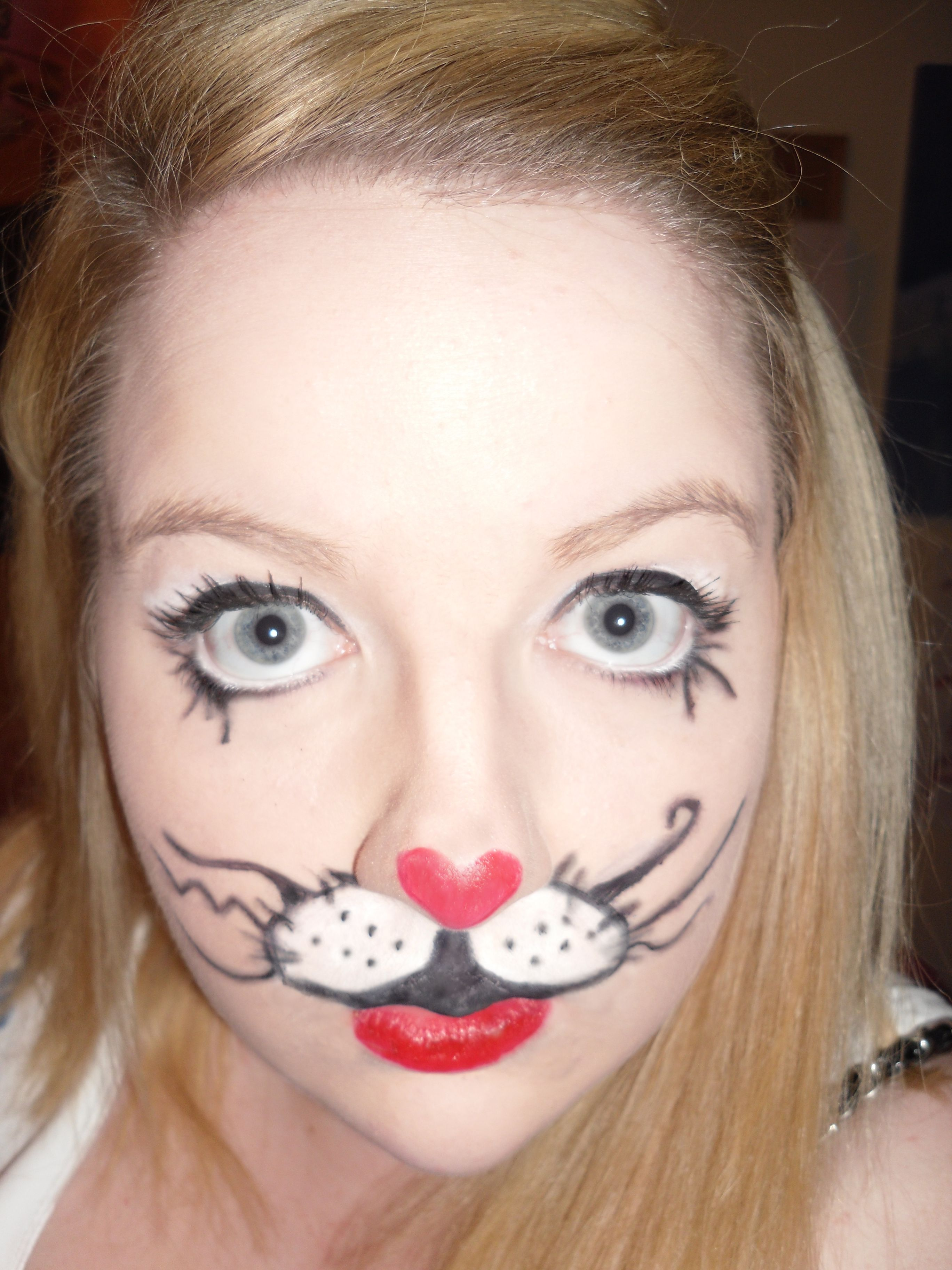 Cute Bunny Rabbit Costume Makeup! | Halloween Make up and Nails ...