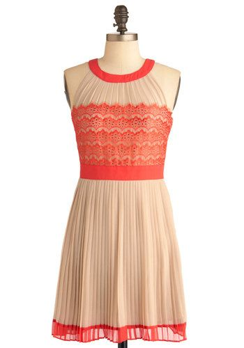 Check, Pleats Dress, #ModCloth