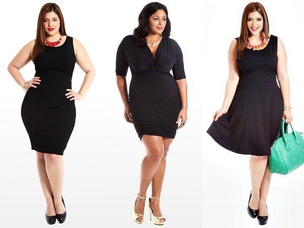 143783e6dfbb Маленькое черное платье для полных  фасоны и модели черных платьев для  полных