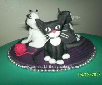 Coolest Cat 50th Birthday Cake Lemon sponge cake Lemon sponge