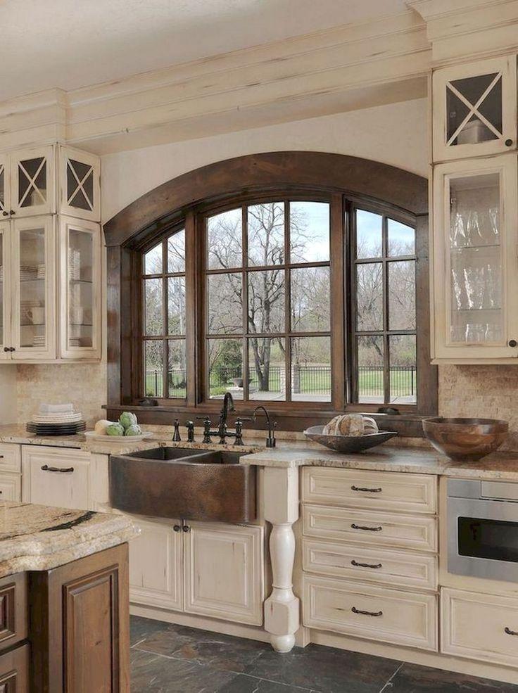 60+ Awesome Modern Farmhouse Style Kitchen Makeover Decor Ideas