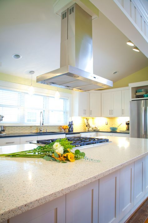 GEOS Recycled Glass Surface In Ocean Shell At A Great Virginia Beach  Home.Similar To My Countertops, With White Cabinets.