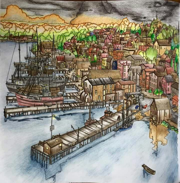 Fantastic Cities By Steve Macdonald FB Coloring BooksAdult ColouringColored