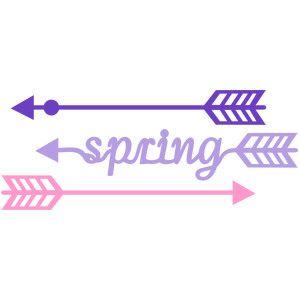Silhouette Design Store: arrows spring