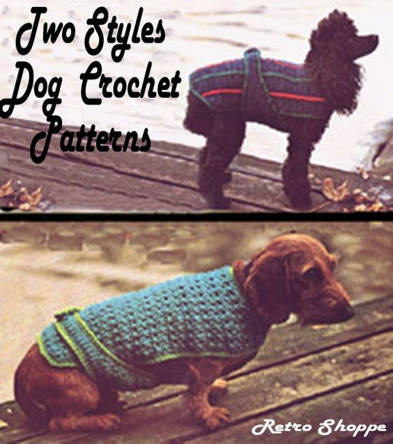 A Free Easy Crochet Dog Sweater Pattern For A Small Dog Dog