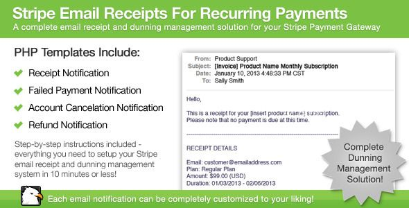 Stripe Email Receipts For Recurring Payments http\/\/codecanyonnet - email receipt template free