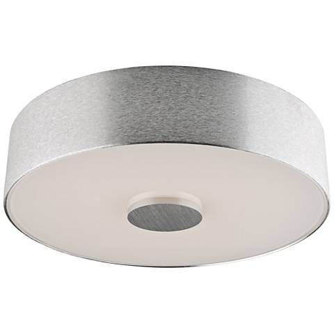Fantasia 10 wide brushed aluminum led ceiling light 9j162 lamps plus