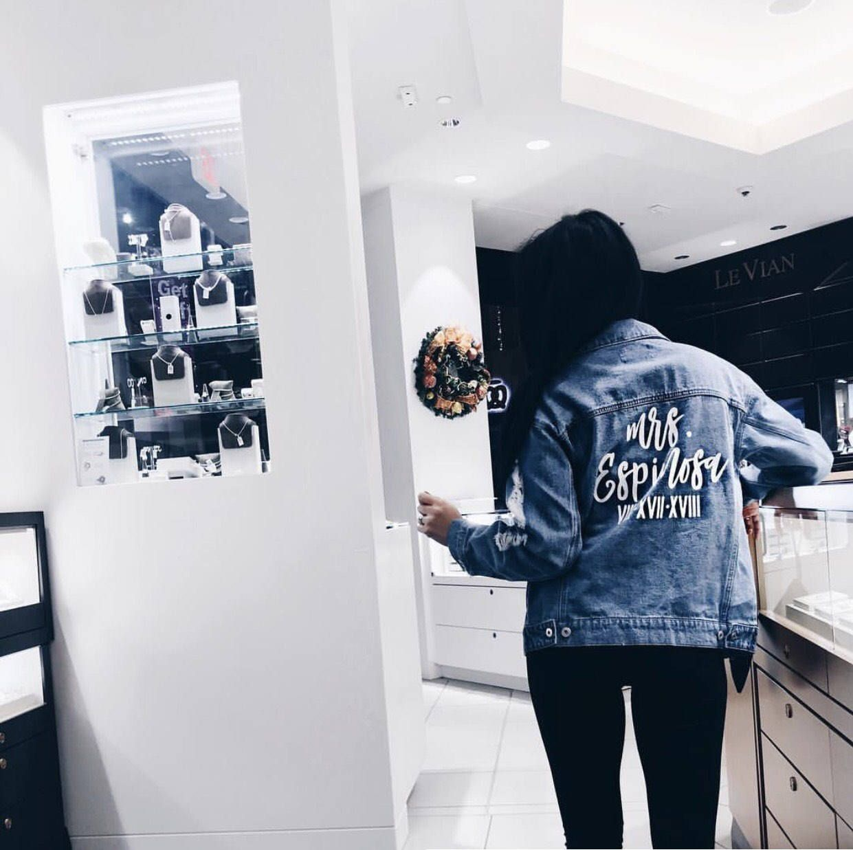 e5178ccde Custom Denim Jacket | Mrs Denim Jacket | Bride Denim Jacket | wife ...