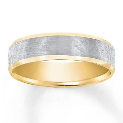Yellow Gold Frames A Band Of White Gold In This Contemporary Men S Wedding Band Mens Wedding Bands Mens Wedding Rings Wedding Rings