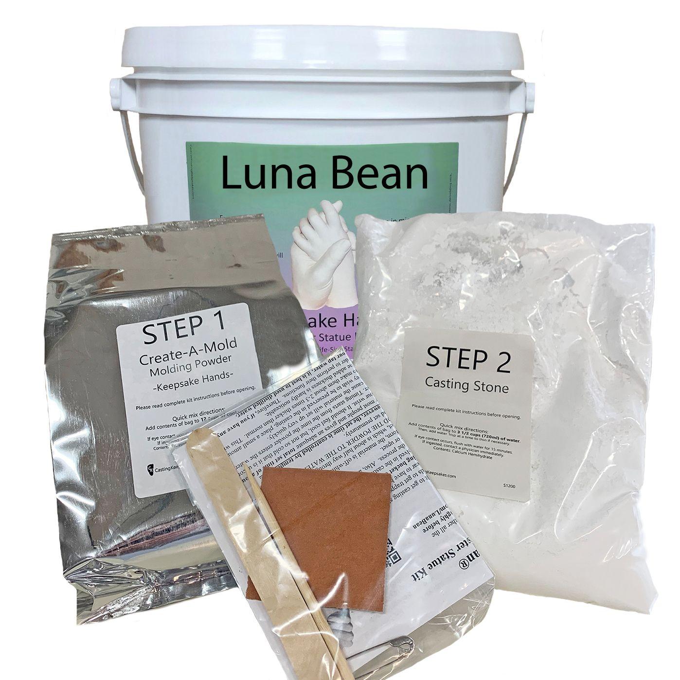 Luna Bean Keepsake Hands Plaster Statue Kit In 2020 Casting Kit Keepsake Plastic Moulding