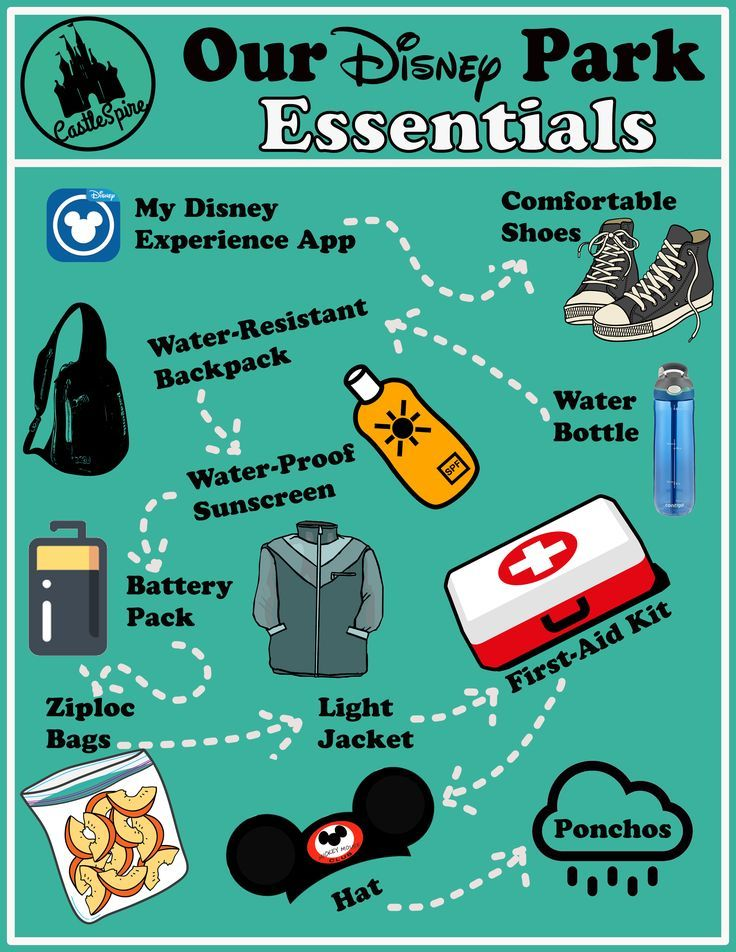 The Essential Disney Park Packing List For Your Next Disney Vacation! disney disneyworld travel packing disneyparks is part of Disney -