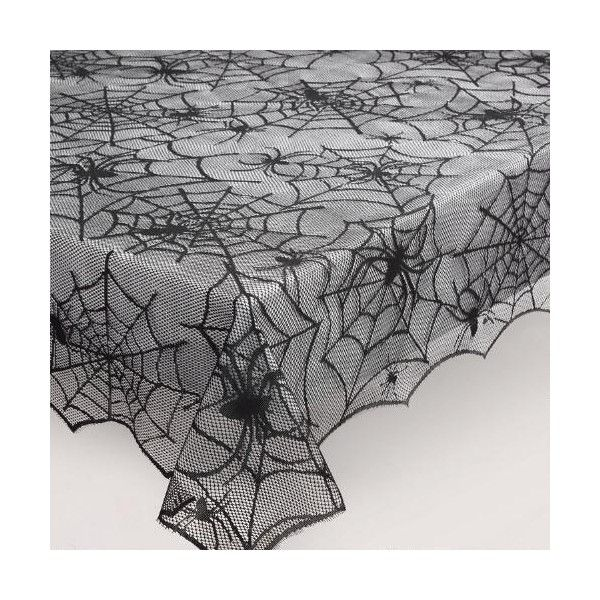 Cost Plus World Market Spider Web Lace Tablecloth ($4.99) ❤ Liked On  Polyvore Featuring