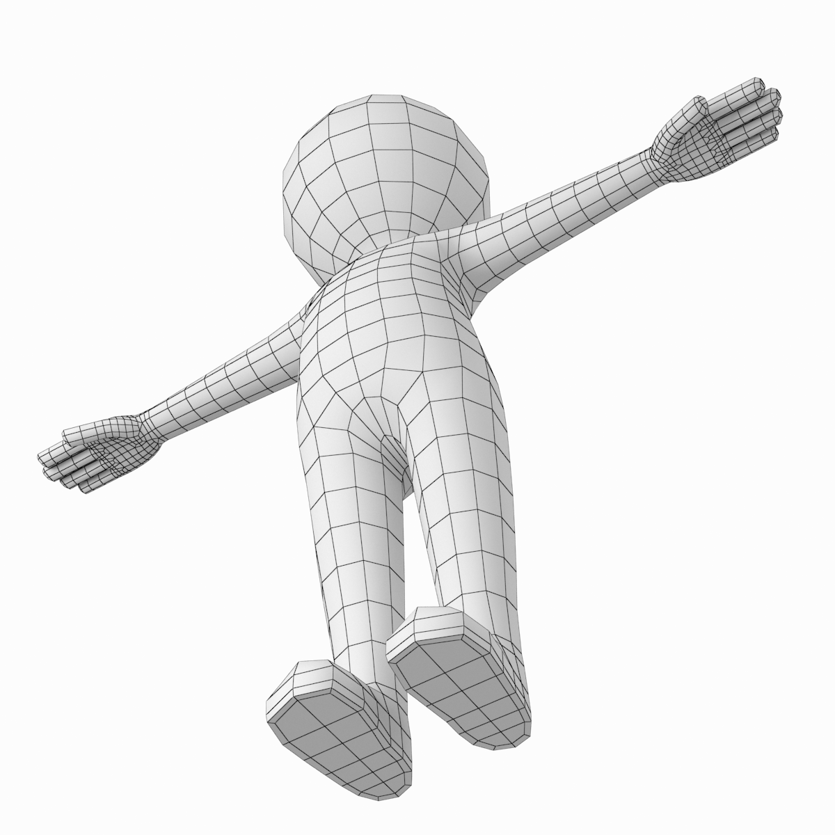 Stylized Stickman In T Pose Stylized Animated Characters Maxon Cinema 4d