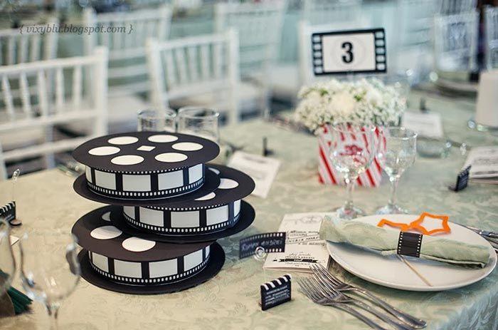 Casamento Tematico Cinema Com Imagens Festa De Cinema Festa