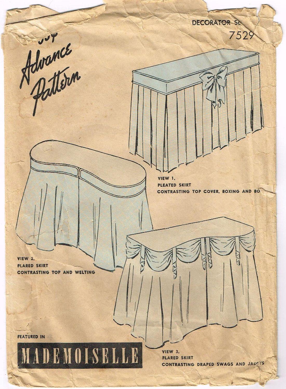 Price cut vintage 1940s dressing table skirt por faithfulfabrics price cut vintage 1940s dressing table skirt por faithfulfabrics geotapseo Image collections