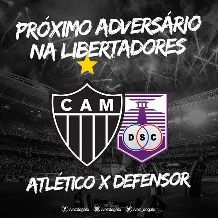Galo X Defensor Sporting Proximo Mata Mata Na Libertadores Esta Definido Atletico Tem Melhor Ranking E Decide De N Atletico Sporting Clube Atletico Mineiro