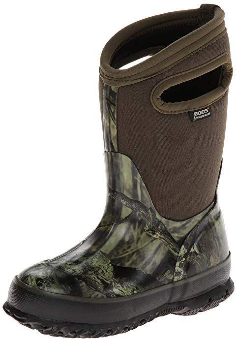 fde207e3e Bogs Classic High Waterproof Insulated Rubber Neoprene Rain Boot Snow, Camo  Mossy Oak/Green/Multi, 2 M US Little Kid He'll be just like dad in the Bogs  Camo ...