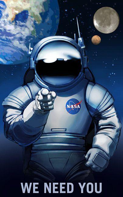 NASA Mars Explorers Recruitment Poster Multi Size Farmers Wanted