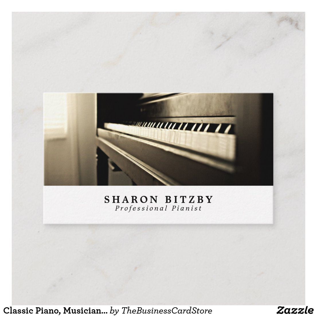 Classic piano musician music industry business card
