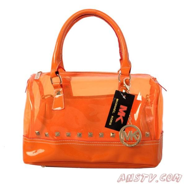 MK7932 Michael Kors Grisson Logo Large Orange Satchel