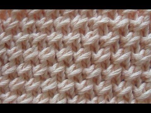 Stricken lernen * Netzpatent * Strickmuster * Patentmuster * Honeycomb Brioche Stitch - YouTube