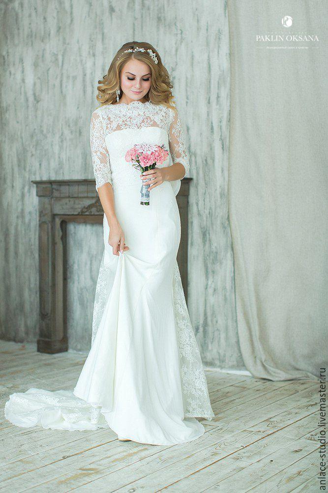 2ccfbd9e1f93518 Свадебные платья - белый, свадебное платье, невеста, рыбка, русалка,  кружево, шифон