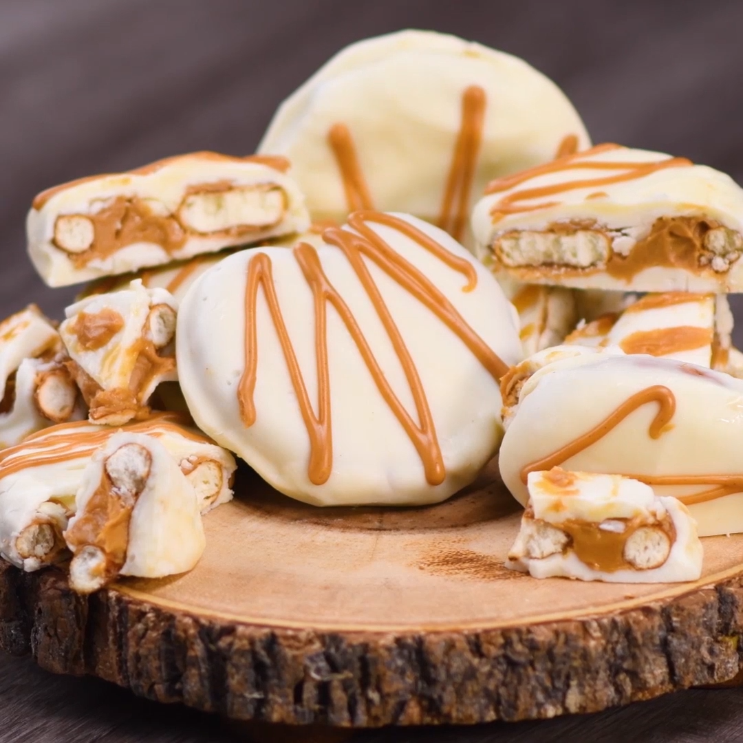 White Chocolate Peanut Butter Pretzels White choco