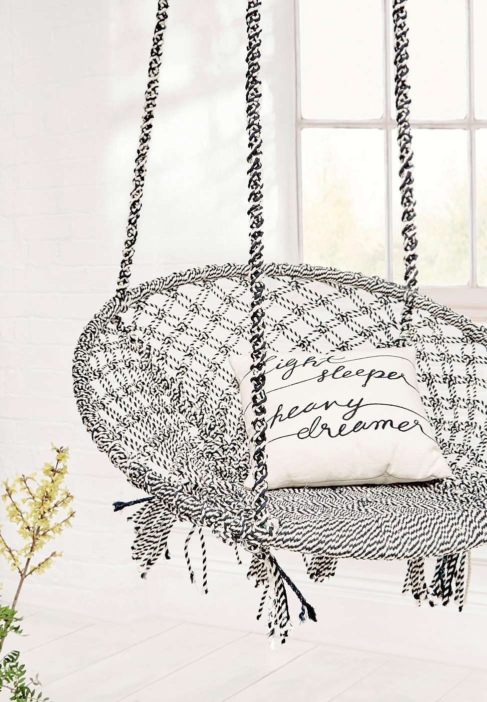 Marrakech black and white swing chair dream catchers pinterest