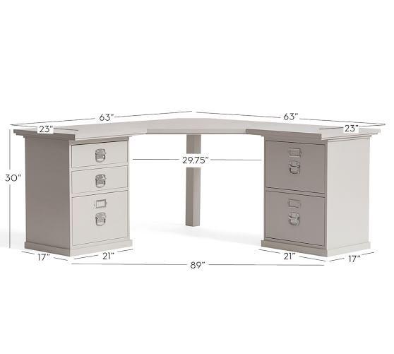 Bedford Corner Desk Potterybarn